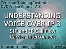 DVD Video Course V10 - Understanding Voice over IP 3: SIP and IP Call Flow � Carrier Interconnect � Megaco - preview