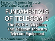 DVD Video Course V1 - Fundamentals of Telecom 1: The PSTN � Telephony � Telecom Equipment � The Telecom Industry - preview