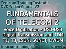 DVD Video Course V2 - Fundamentals of Telecom 2: Voice Digitization � DS0-DS3 � Digital Transmission and TDM � T1 � T3 � ISDN � SONET � Fiber and DWDM - preview