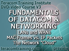 DVD Video Course V3 - Fundamentals of Datacom and Networking: WANs and LANs � MAC Frames vs. IP Packets � The Network Cloud - preview